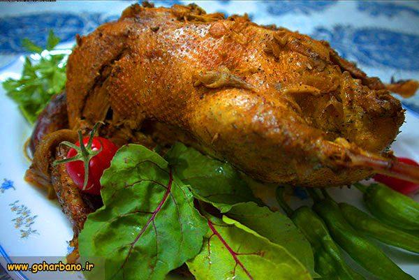 برنج با خوراک اردک